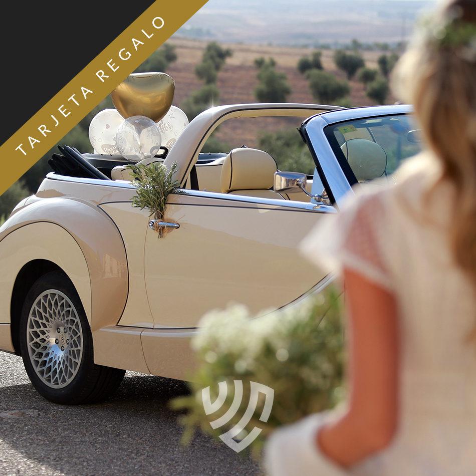 Tarjeta regalo de coche para bodas en Madrid